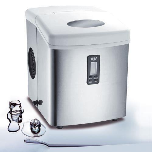 H.KOENIG KB15 - Produttore di cubetti di ghiaccio 15 kg - Acciaio inossidabile
