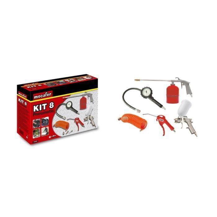 MECAFER Kit accessori aria compressa 8 pezzi