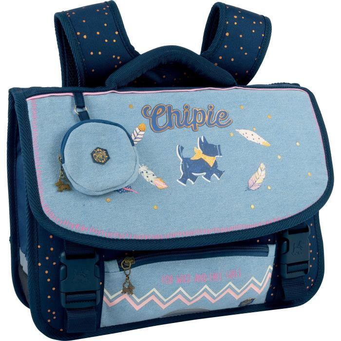 CHIPIE Cartable 41 Cm 3 Compartiments Bleu Enfant