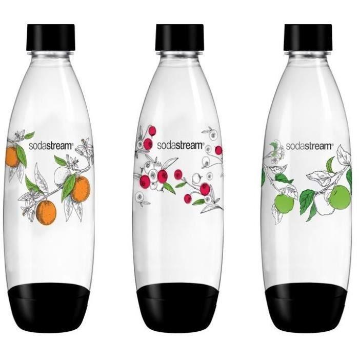 SODASTREAM Confezione da 3 bottiglie gassate fiori invernali di grandi dimensioni - Modello di bottiglia casuale