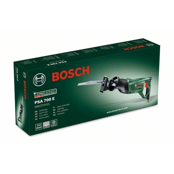 Scie sabre filaire Bosch - PSA 700 E (Livrée avec 1 lame de scie pour bois)
