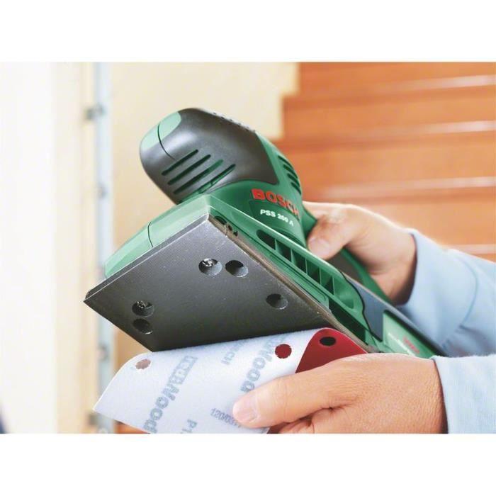 Ponceuse vibrante Bosch - PSS 200 A (Livré dans coffret plastique avec 1 Feuille abrasive P120)