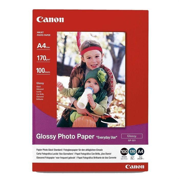 CANON Papier photo A4 GP-501 Glacé 210gr 100 feuilles