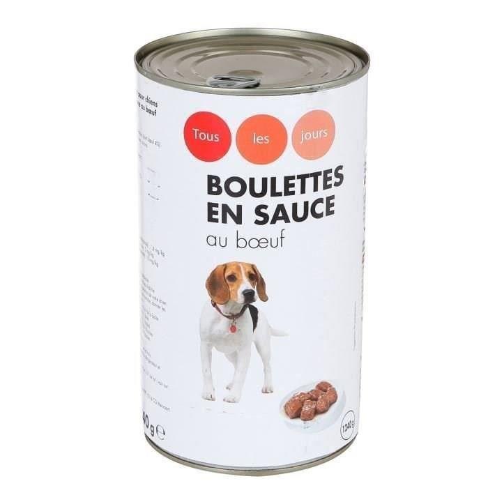CASINO Boulettes en sauce au boeuf - 1240 g - Pour chien