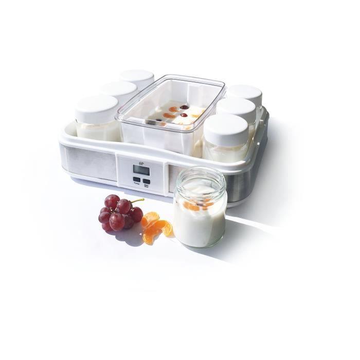 CONTINENTAL EDISON CEYA001 Yogurtiera 12 vasi 2 maxi vassoi - Bianco