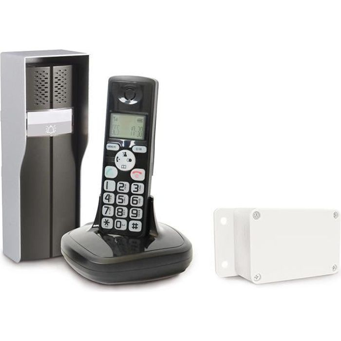 SCS SENTINEL Interfono audio wireless DuoPhone 150 con display LCD DECT