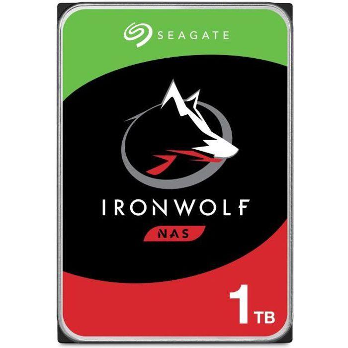 SEAGATE - Disque dur Interne - NAS IronWolf - 1To - 5900 giri / min - 3,5 \
