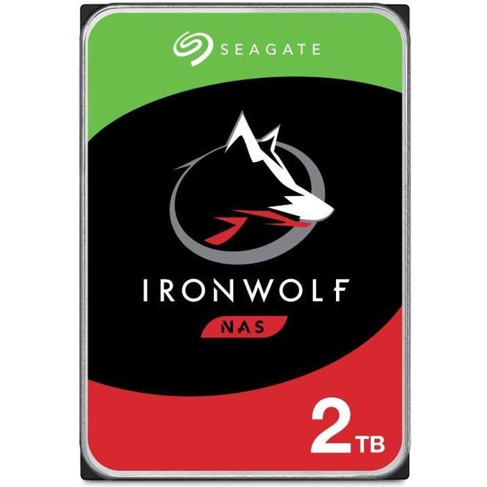 SEAGATE - Disque dur Interne - NAS Iron Wolf - 2To - 5900 giri / min - 3,5 \