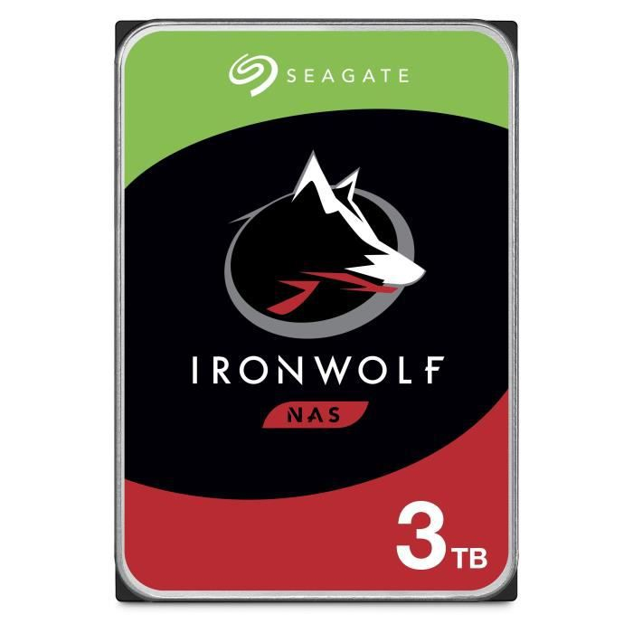 SEAGATE Disque dur IronWolf ST3000VN007 - 3.5 \