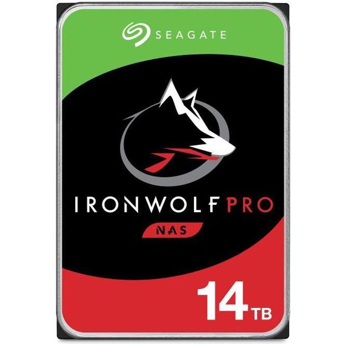 SEAGATE - Disque dur Interne - NAS IronWolf Pro - 14To - 7200 giri / min - 3,5 \