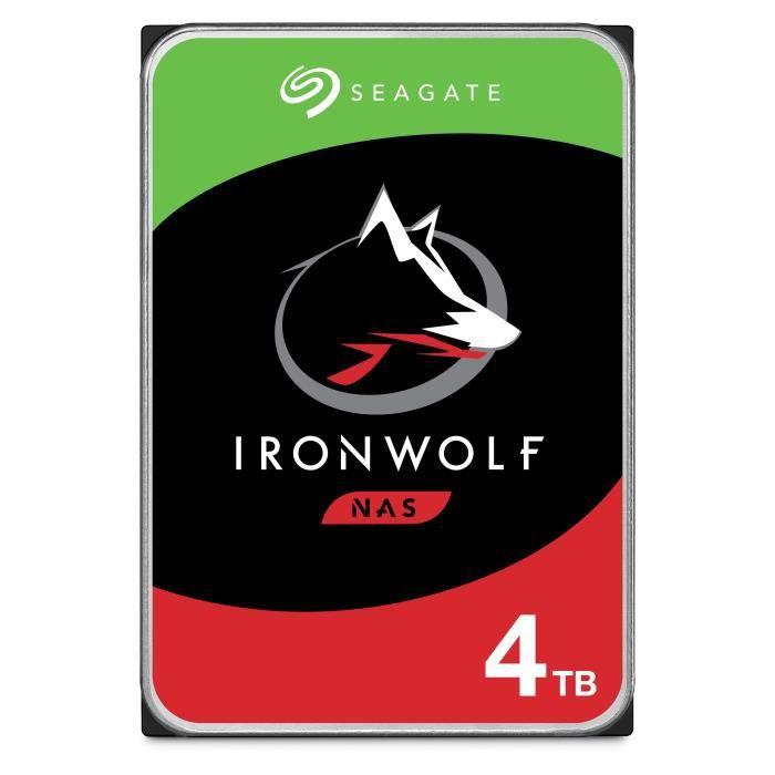 SEAGATE - Disque dur Interne - NAS Iron Wolf - 4To - 5900 giri / min - 3,5 \
