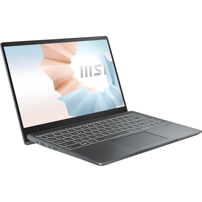PC portatile - MSI Modern 14 B11M-059XFR - 14 FHD - Core i5-1135G7 - RAM 8 GB - Archiviazione SSD da 512 GB - Nessun sistema operativo - AZERTY