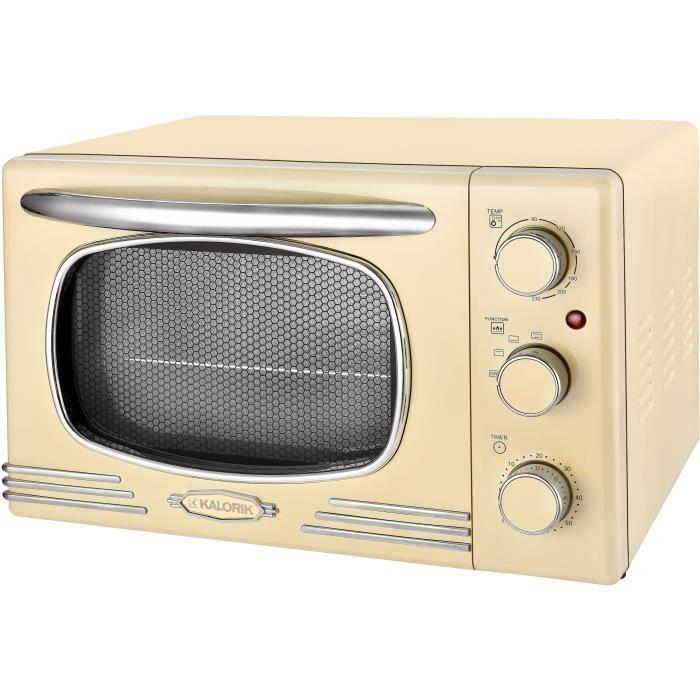 TKG OT 2500 - Mini-forno vintage - 19,5L - 1300W - Riscaldamento superiore, inferiore o combinato - 90-230 ° C - Beige