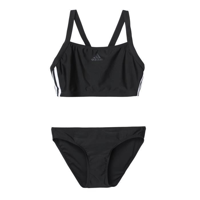 Costume da bagno ADIDAS 2 pezzi Fit 3S - Donna - Bianco e nero