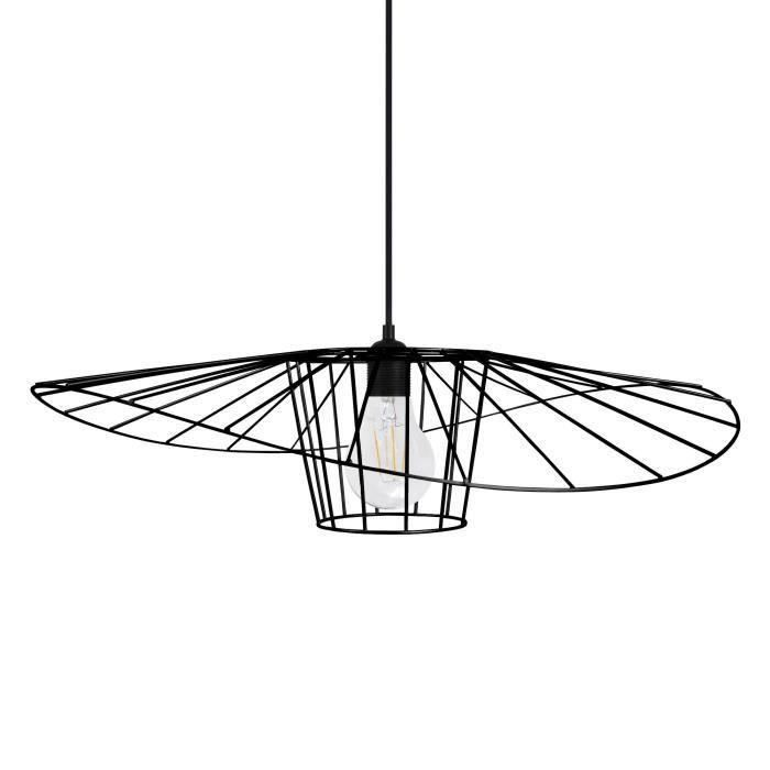 LADY BIRD Lampada a sospensione cablata - Ø60 x H70 cm - Nera