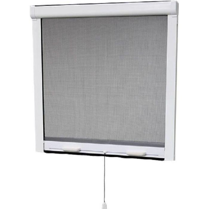 Zanzariera per finestra in PVC L100 x H145 cm - Tagliabile in larghezza e altezza