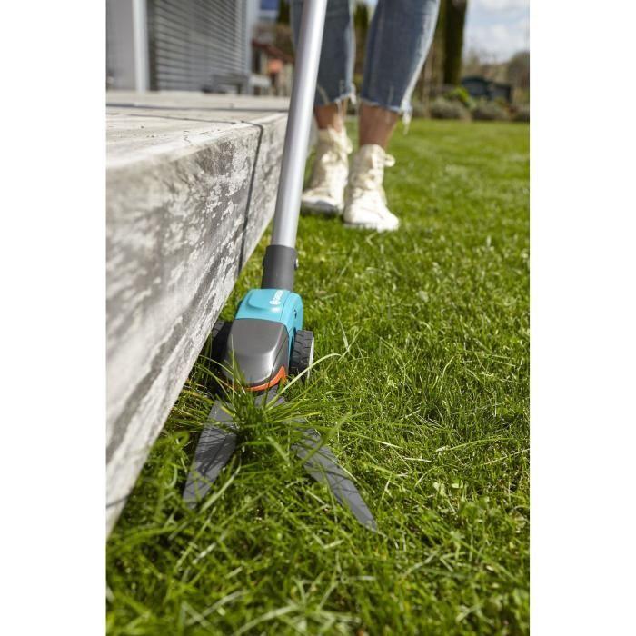 GARDENA Cisaille a gazon orientable Comfort – Lames pivotantes – Revetement anti-adhérence – Poignée ergonomique – (12100-20)