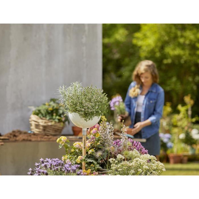 GARDENA ClickUp! Pot de fleurs - Plastique haute qualité - Hauteur 15 cm -  Diametre 25 cm - Garantie 5 ans (11320-20)