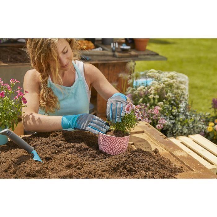 GARDENA Gants de jardin pour petits travaux – Taille S/7 – Fabrication imperméable – Protection certifiée oeko-Tex – (11500-20)