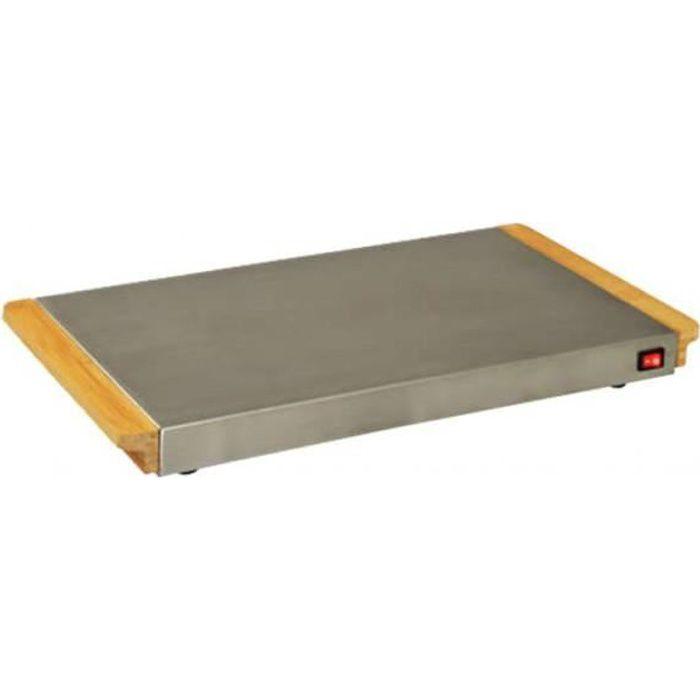 KITCHEN CHEF KCCHWA2SD Scaldapiatti elettrico - Legno / Acciaio inossidabile