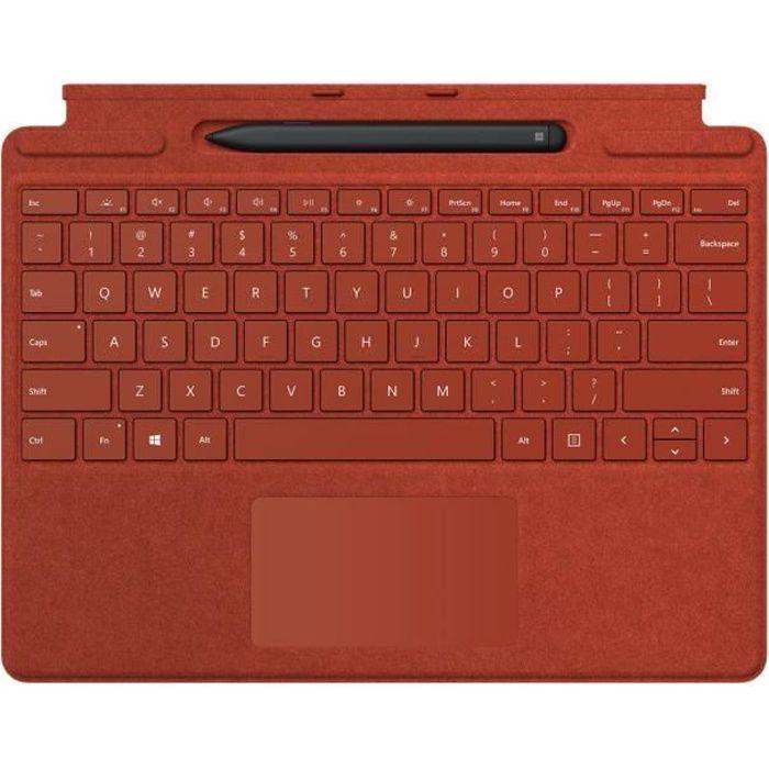 Microsoft Surface Madina - Combinazione di tastiera e penna per Surface Pro X - Rosso papavero