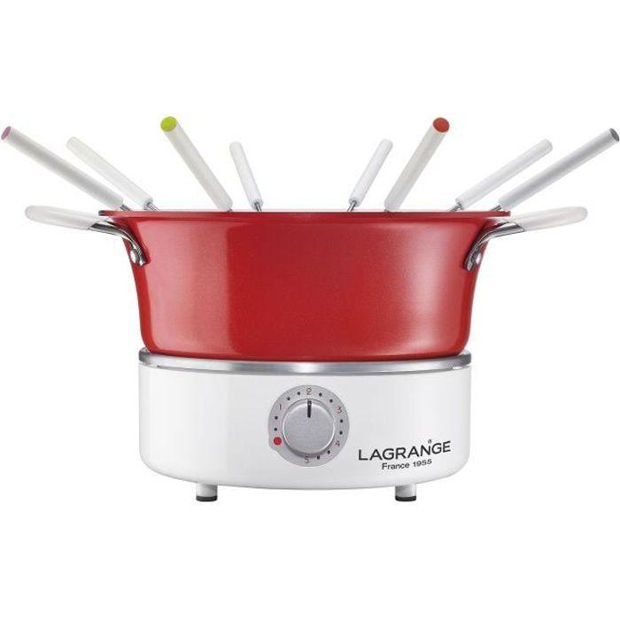 LAGRANGE Fondue festiv \ 'con ramekin - 900W - 8 forchette fonduta - Caquelon 1,2L