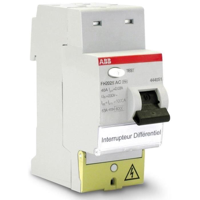 ABB Interruttore differenziale con terminali offset tipo AC 40 A