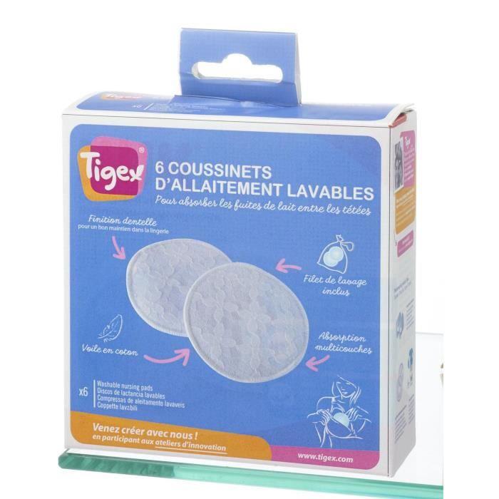 TIGEX 6 Coussinets lavables avec filet de lavage