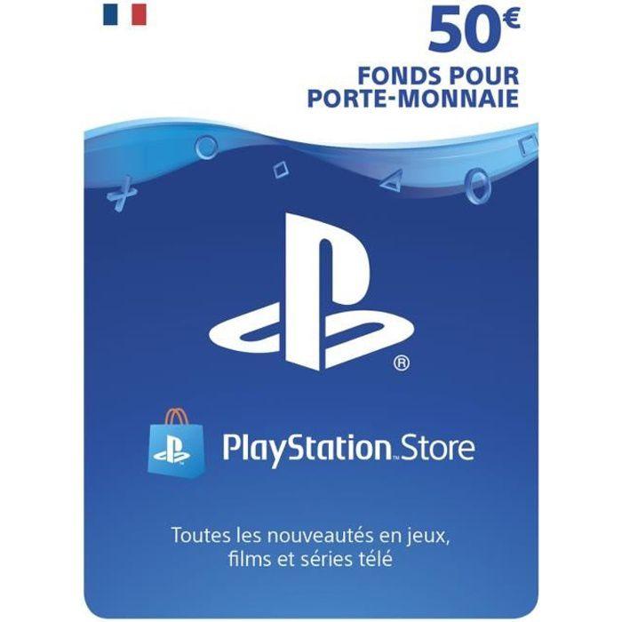 Carte 50€ de fonds pour porte-monnaie virtuel PlayStation Store - PS5-PS4-PS3-PSVita - PlayStation Officiel