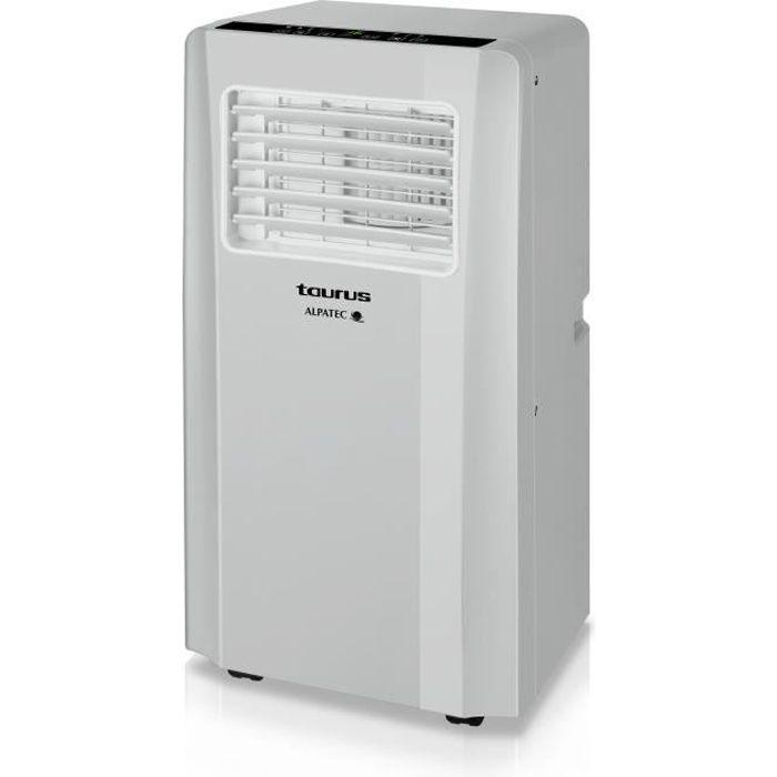 Climatizzatore mobile reversibile grigio chiaro 2600 W.