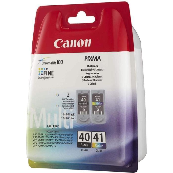 CANON Pack de 2 cartouches d'encre PG-40 / CL-41 Noir + Couleur