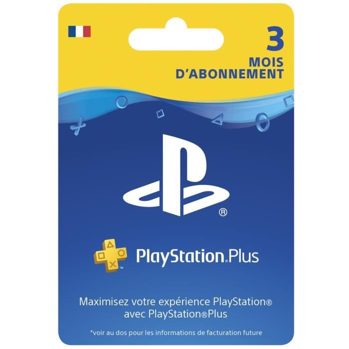 Carte Abonnement 3 Mois au PlayStation Plus - PS5-PS4-PS3-PSVita - PlayStation Officiel