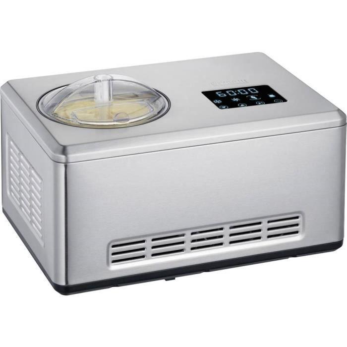 SEVERIN EZ7405 Sorbetiere Yogurt maker 2 in 1 - Funzione innovativa per preparare sorbetti gelato e yogurt / acciaio inossidabile spazzolato