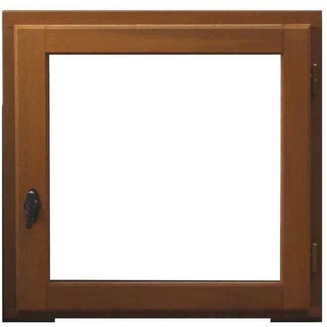 Finestra 1 anta estraibile sinistra - H.60 x L.60 cm - Legno esotico