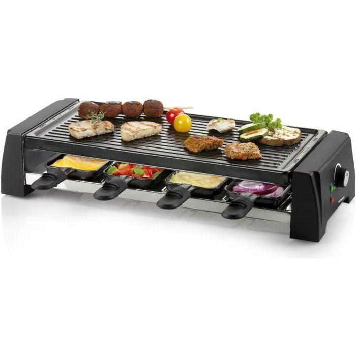 DOMO DO9189G grill per raclette per 8 persone - Nero