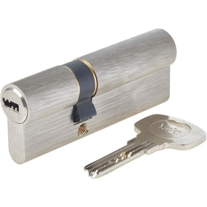 Cilindro della serratura disinnestabile Yale YC1000 30x50mm per porta d'ingresso, 6 perni, 4 chiavi