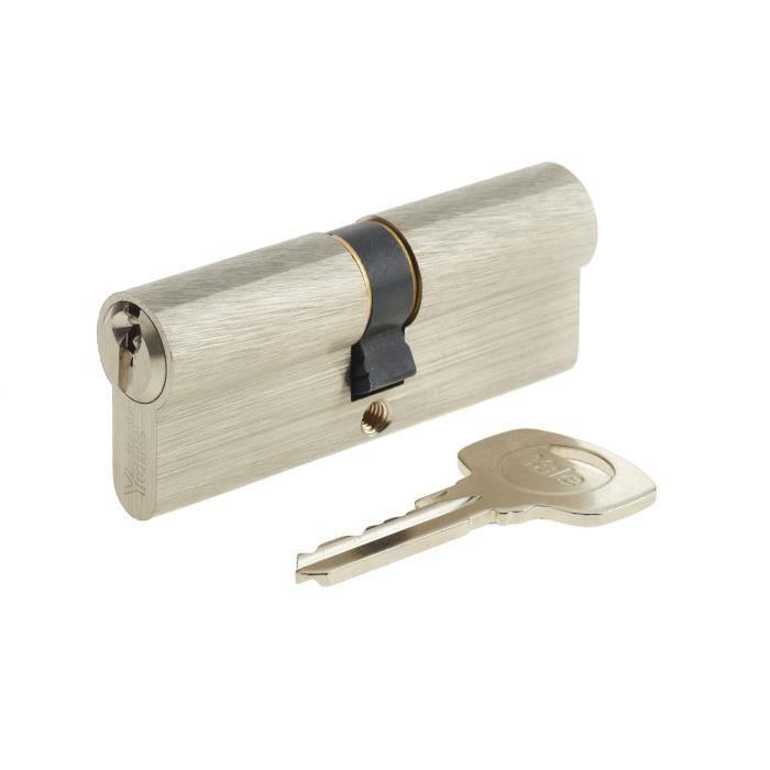 YALE Cilindro serie 500 40x40 mm nichelato, 5 perni, 3 chiavi