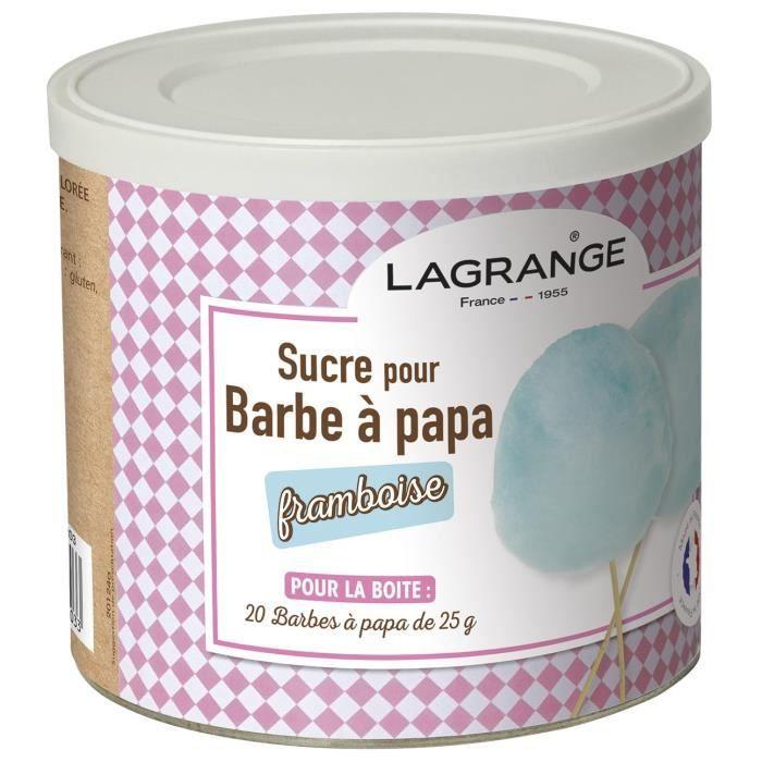 LAGRANGE 380008 Scatola di zucchero filato 500 g - Lampone
