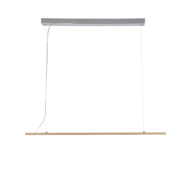 COREP Lampada a sospensione a LED integrata in legno - 100 x 5 x 125 cm - MALMO