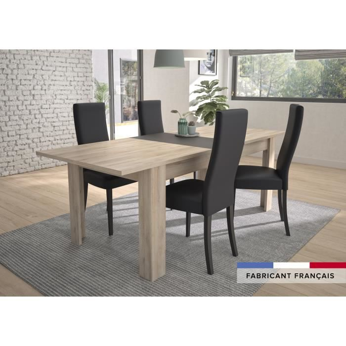 GAMI Table a manger extensible - Made in France - EMBRUN - L 180-228 x P 90 x H 78 cm