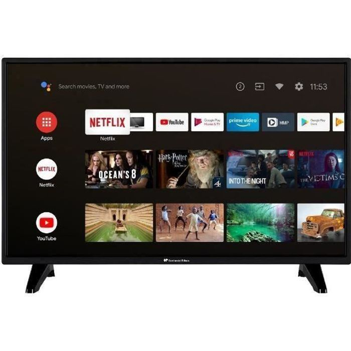 CONTINENTAL EDISON Android Smart TV LED HD - 32 (80 cm) -WiFi - Bluetooth - HDMIx2 - USBx2 - Controllo vocale