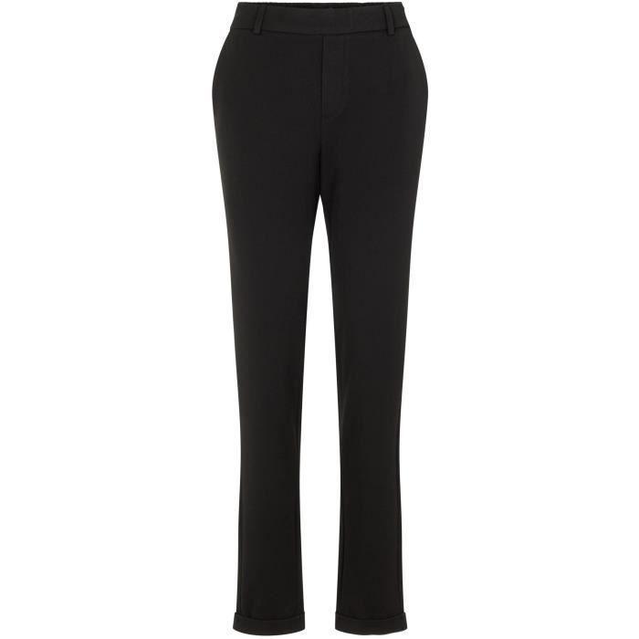 VERO MODA Pantalon Ajusté Noir Femme