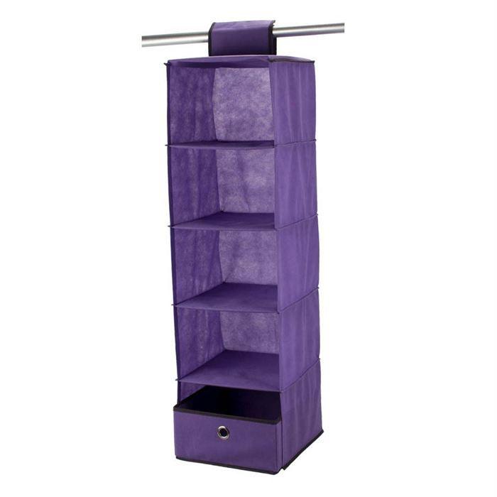 BAGGY Casiers a accrocher renfort carton 58x30 cm violet