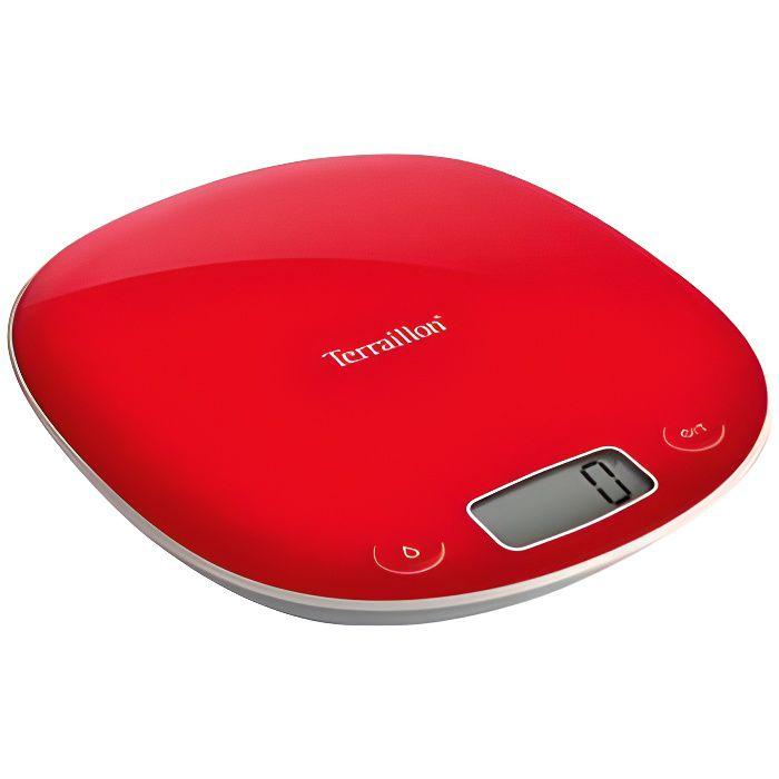 TERRAILLON 14426 - Bilancia elettronica da cucina Macaron Grenadine - 3g min 5kg max - Conversione liquido - Tara - Arresto automatico - LCD