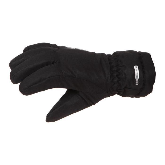 WANABEE Gants de Ski Kd Sambuy 50 Gan - Garçon - Noir