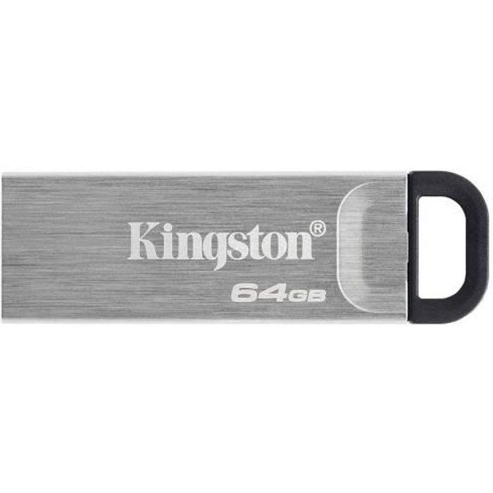 KINGSTON DataTraveler Kyson 64GB USB Flash Drive - Con elegante custodia in metallo senza cappuccio