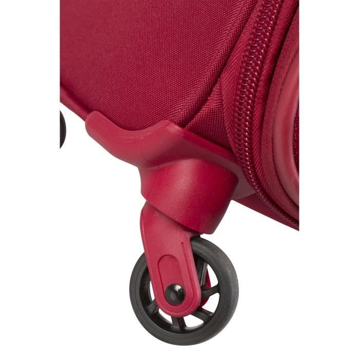DELSEY Valise Trolley Extensible Souple 4 Roues 68cm PIN UP5 Rouge