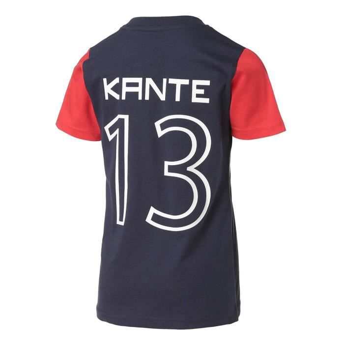 WEEPLAY T-shirt Football FFF Kante - Maillot Enfant 100% coton jersey