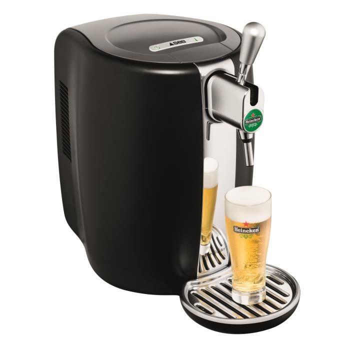 SEB VB310E10 Distributore di birra Beertender - Compatibile con fusti da 5 L - Nero / Cromo