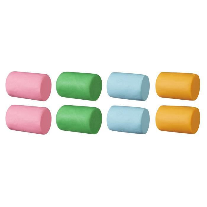 Play-Doh - 8 vasetti di argilla da modellare a 4 colori - Le Super Barrel - 112 g ciascuno